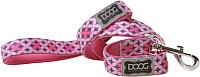 Поводок DOOG Toto / LEADPBS (розовый с узором) -