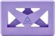 Блок для йоги Reebok RAYG-10035PL (фиолетовый) -