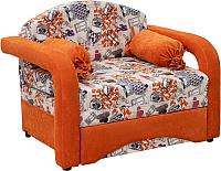 Кресло-кровать Нижегородмебель и К Антошка 01 85 (канваз финил манго/лайт 11) -