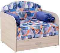 Кресло-кровать Нижегородмебель и К Антошка 1 02 85 (сноу деним/витал индиго) -