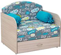 Кресло-кровать Нижегородмебель и К Антошка 1 011 85 (фибра чао/берген азур) -