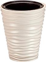 Кашпо Idea Дюна М3401 со вставкой (кремовый) -