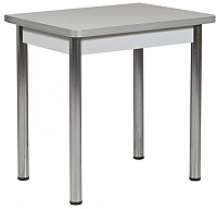 Обеденный стол Рамзес Ломберный ЛДСП 60х80 (серый/хром) -