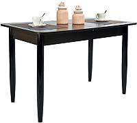 Обеденный стол Рамзес Раздвижной прямоугольный ЛДСП 110-140x70 (венге/ноги конусные) -