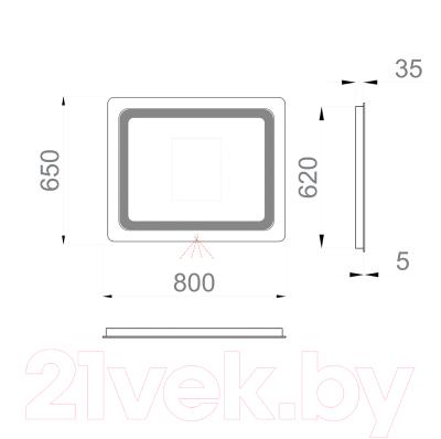 Зеркало Sanwerk Lava Vega 80 / ZL0000184