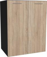Шкаф под мойку Артём-Мебель СН-114.21 (600) (дуб сонома/черный) -