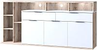 Тумба Anrex Compact 3D2S7N L (каштан найроби/белый) -