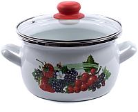 Кастрюля Omelia 1-2440112 / 87909 (белый/ягоды) -
