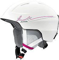 Шлем горнолыжный Alpina Sports Chute / A9098-12 (р-р 54-57, белый/розовый/серый) -