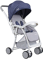 Детская прогулочная коляска INDIGO Macros (синий) -