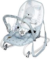 Детский шезлонг Lorelli Top Relax Blue Bunny / 10110022043 -