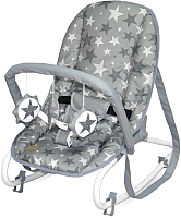 Детский шезлонг Lorelli Top Relax Grey Stars / 10110022015 -
