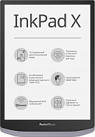 Электронная книга PocketBook 1004 InkPad X / PB1040-J-CIS (Metallic Grey) -