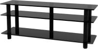 Тумба Artglass PLc 50/3/4 (серый/черный) -