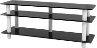Тумба Artglass PLc 50/3/4 (серый/белый) -