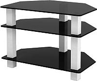 Тумба Artglass TVc 29/3/3 (серый/черный) -