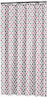 Шторка-занавеска для ванны Sealskin TXT Diamonds 235201350 (180x200, розовый) -
