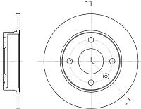 Тормозной диск Remsa 609400 -