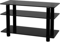Тумба Artglass PLc 32/3/4 (графит/черный) -