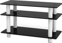 Тумба Artglass PLc 32/3/4 (графит/белый) -