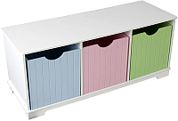 Система хранения KidKraft Storage Bench Pastel / 14565-KE -