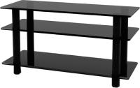 Тумба Artglass PLc 37/3/4 (серый/черный) -