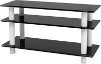 Тумба Artglass PLc 37/3/4 (серый/белый) -