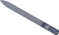 Пилка для ногтей Zinger Bohemia 90 мм (стразы) -