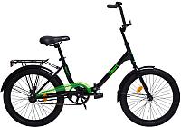 Велосипед AIST Smart 2.1 2019 (24, черный/зеленый) -