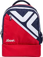 Рюкзак спортивный Jogel Double Bottom / JBP-1903-291 (красный/темно-синий/белый, M) -