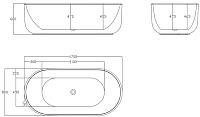 Ванна акриловая BelBagno BB401-1700-800 -