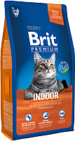 Корм для кошек Brit Premium Cat Indoor с курицей и печенью / 513246 (1.5кг) -