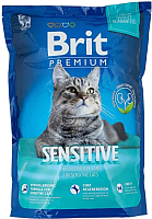 Корм для кошек Brit Premium Cat Sensitive с ягненком / 513208 (1.5кг) -