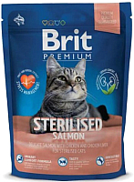 Корм для кошек Brit Premium Cat Sterilised Salmon / 534852 (1.5кг) -
