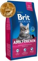 Корм для кошек Brit Premium Cat Adult Chicken / 513093 (8кг) -