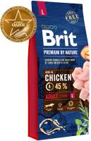 Корм для собак Brit Premium by Nature Adult L / 526468 (15кг) -