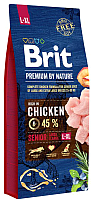 Корм для собак Brit Premium by Nature Senior L/XL / 526482 (15кг) -