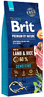 Корм для собак Brit Premium By Nature Sensitive Lamb & Rice / 526642 (15кг) -