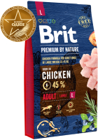 Корм для собак Brit Premium by Nature Adult L / 526444 (3кг) -