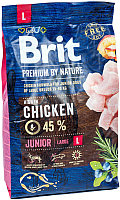 Корм для собак Brit Premium by Nature Junior L / 526420 (3кг) -