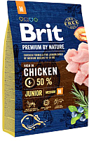 Корм для собак Brit Premium by Nature Junior M / 526321 (3кг) -
