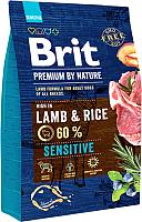 Корм для собак Brit Premium By Nature Sensitive Lamb & Rice / 526628 (3кг) -
