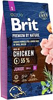 Корм для собак Brit Premium by Nature Junior S / 526246 (8кг) -