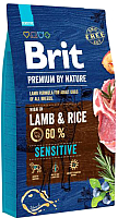 Корм для собак Brit Premium By Nature Sensitive Lamb & Rice / 526635 (8кг) -
