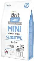 Корм для собак Brit Care Mini GF Sensitive Venison / 520169 (2кг) -
