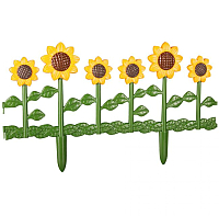 Изгородь декоративная Альтернатива Цветник №2 / М615 (620x290, желтый) -