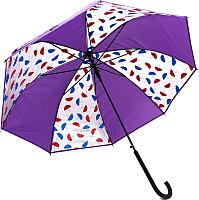 Зонт-трость Капелюш D-7 (фиолетовый) -