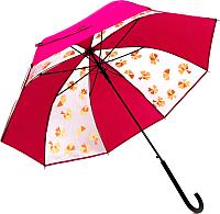 Зонт-трость Капелюш D-8 (розовый) -