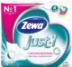 Туалетная бумага Zewa Just 1 без аромата (1x4рул) -