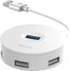 USB-хаб Baseus USB3.0 to USB3.0x1+USB2.0x3 / CAHUB-F02 (белый) -